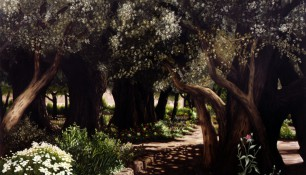 2000 - Jerusalem, Garden of Gethsemane - Oil on canvas - 200 x 250