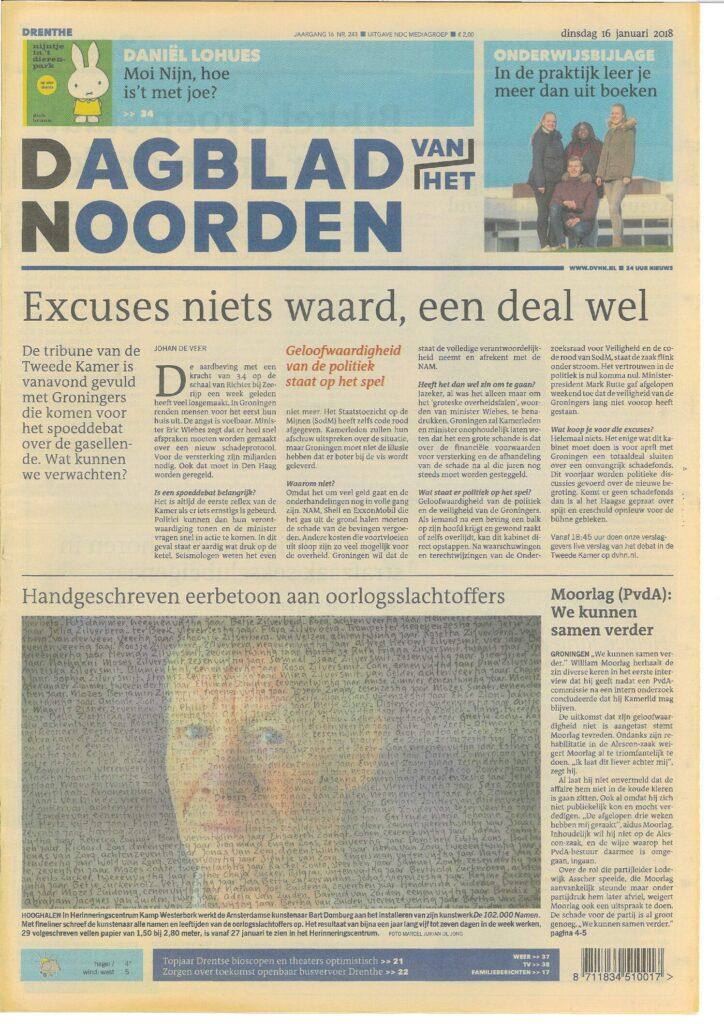 Dagblad van het Noorden 16-01-2018